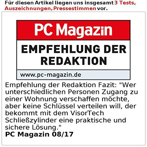 VisorTech Türschloss: Elektronischer Tür-Schließzylinder, Transponder, Code, Bluetooth & App (Elektronisches Türschloss) - 7