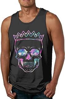 Skulls Mens Underwaist Tank Top Shirt Black