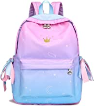 KIKISUM Womens Gradient School Backpacks for Teens Elementary School Bags Bookbag Cute