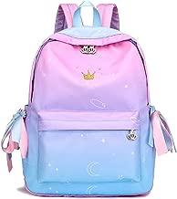 KIKISUM Womens Gradient School Backpacks for Teens Elementary School Bags Bookbag Cute