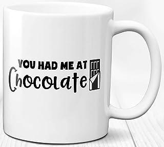 Taza del amante del chocolate Mensaje divertido Cacao caliente Tema de chocolate caliente Regalo Taza de cerámica 330 ml