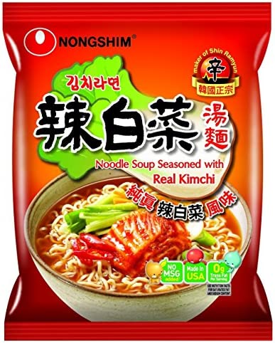 Nongshim Noodle Soup Ramen with Real Kimchi 4 2 Ounce Pack of 4 product image