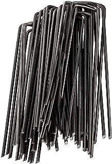 FIDALIKA 100 unidades/paquete de fijación de clavijas de metal en forma de U para jardín, estacas de tierra para cubierta ...