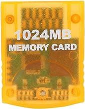 Fdit Carte mémoire 1024M (16344 Blocs) pour Console de Jeu WII Gamecube, Salle de Stockage 1G Compatible avec Nintendo GC NGC