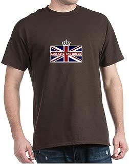 God Save The Queen Dark T Shirt 100% Cotton T-Shirt Brown