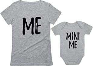 Mom and Daughter Matching T-Shirt & Bodysuit Funny Me & Mini Me Matching Set