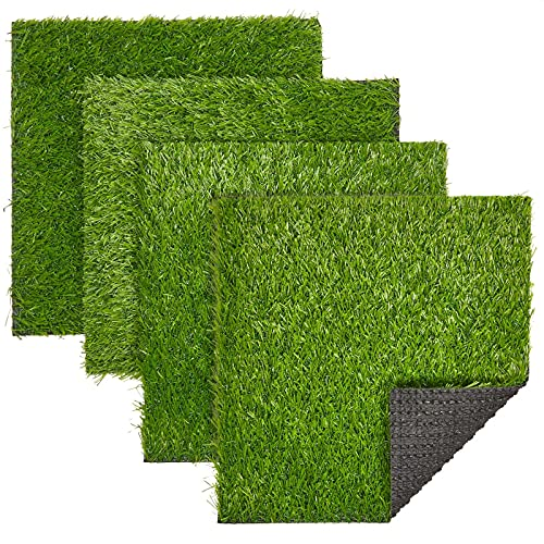 Best Value: Fake Grass Patch, Synthetic Grass (12 x 0.25 x 12 in, 4-Pack)