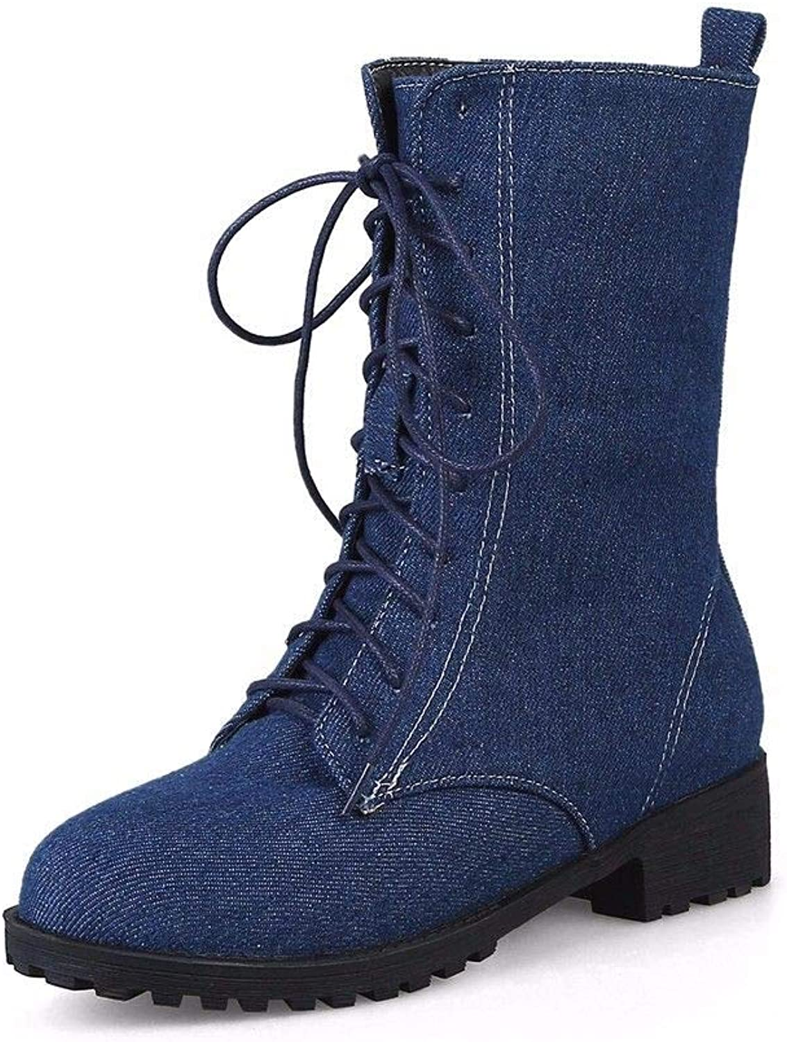 Girls Winter Boots Cowboy Boots Bumading Front tie Low Heel Boots