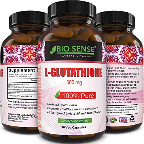 Max Potency Glutathione –Skin Whitening Pills + Milk Thistle Extract...