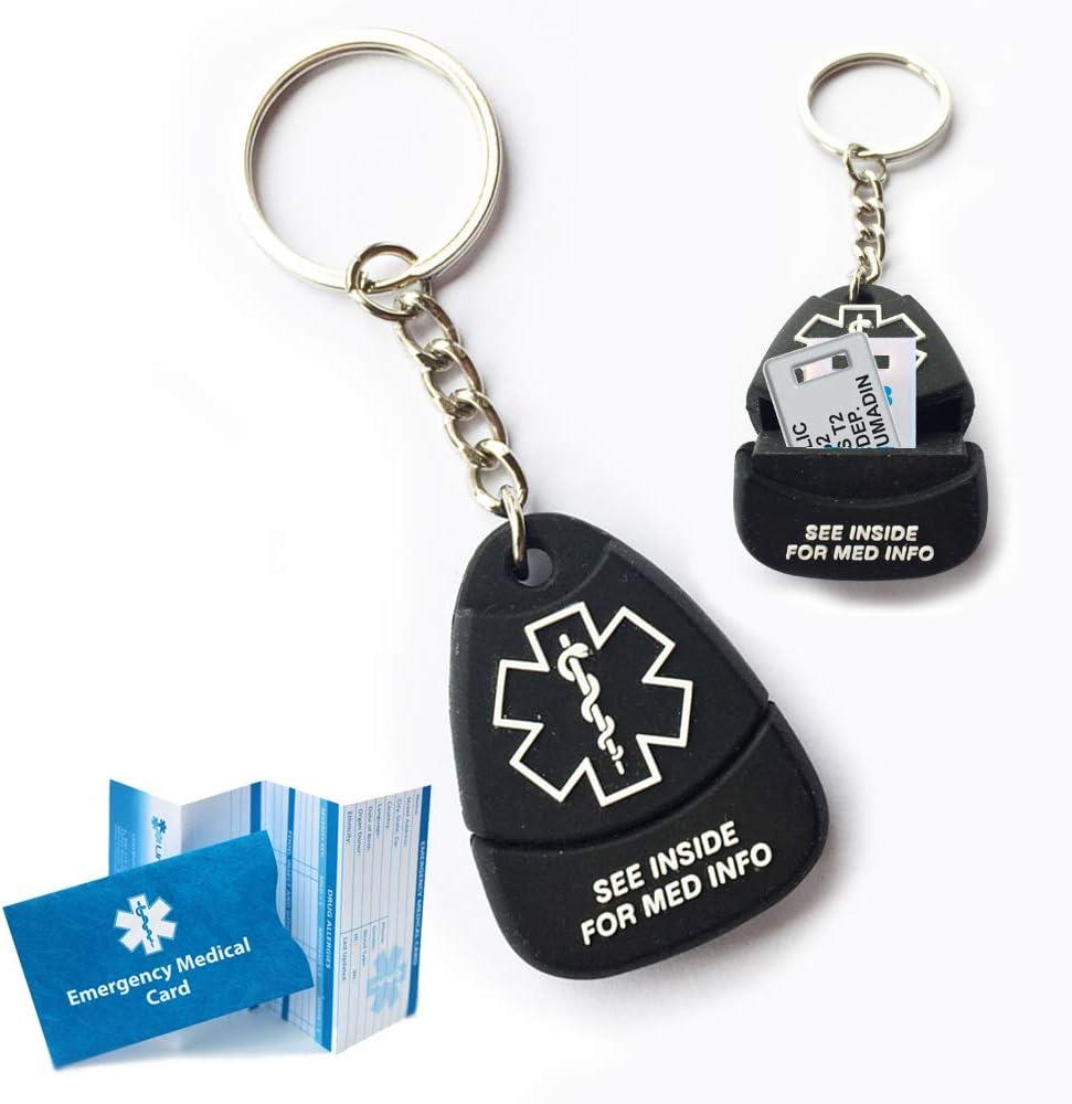 Responder Keychain USB Plus Medical Alert Custom 100%品質保証! ID. Engraved セール 10
