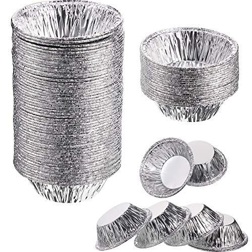 400 Piezas Moldes de Pastel de Aluminio Mini Moldes de Papel de Estaño Desechables Pequeño Molde de Papel de Aluminio Herramienta de Hornear de Magdalena Muffin Tarta para Suministros de Hornear