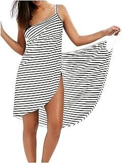 1abd726487 Bikini Cover Up Dress Maillot de Bain Paréo Femme Grande Taille Serviette  de Plage Coton Robe