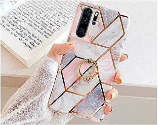 PHEZEN Case for Huawei P30 Pro Case,Girl Women IMD Geometric Marble TPU Shell A