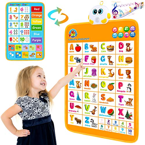 Electronic Interactive Alphabet Wall Chart,Talking ABC & 123s &...