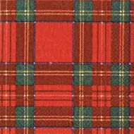 Christmas Napkins Christmas Party Christmas Dinner Party Paper Dinner Napkins Plaid Pk 40