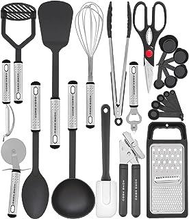 Home Hero 25pc Kitchen Utensil Set - Nylon & Stainless Steel Cooking Utensils - Non-Stick Kitchen Utensils with Spatula - ...