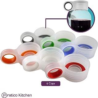 Glass Bottle Replacement Loop Caps for Pratico Kitchen, Epica, Estilo, Similar Glass Bottles - 6 Pack Multi-Color