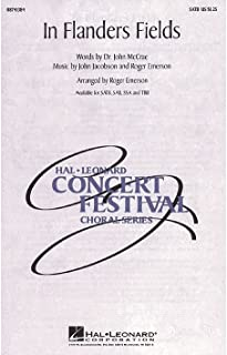 Hal Leonard In Flanders Fields SATB arranged by Roger Emerson
