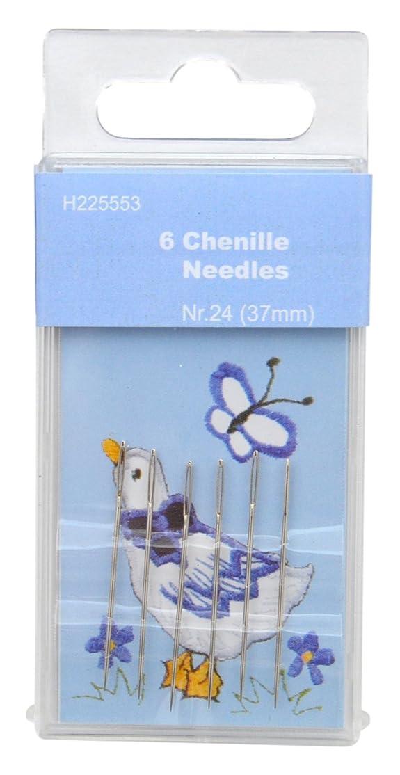 TSL 6 x Chenille Needles, Metal Silver, 24-37 mm qnatnz5072