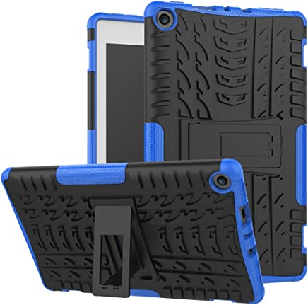 Maomi Amazon fire HD 8 inch 2017/2018 Case,[Kickstand Feature],Shock-Absorption/High Impact Resistant Heavy Duty Armor Defender Case for Kindle fire hd 8 7th/8th (Blue)