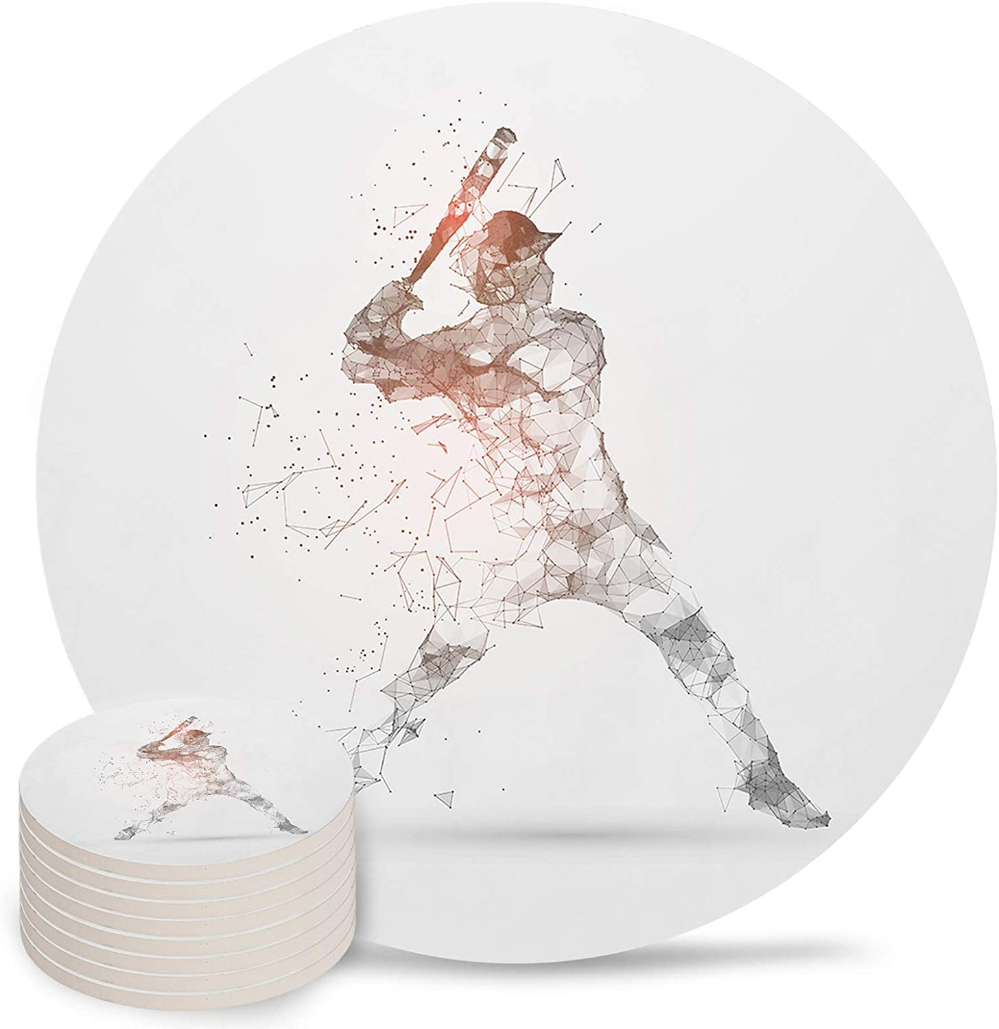Max 41% OFF Sports Absorbent Coasters 8-Piece Drin for Ceramic Set Fashionable
