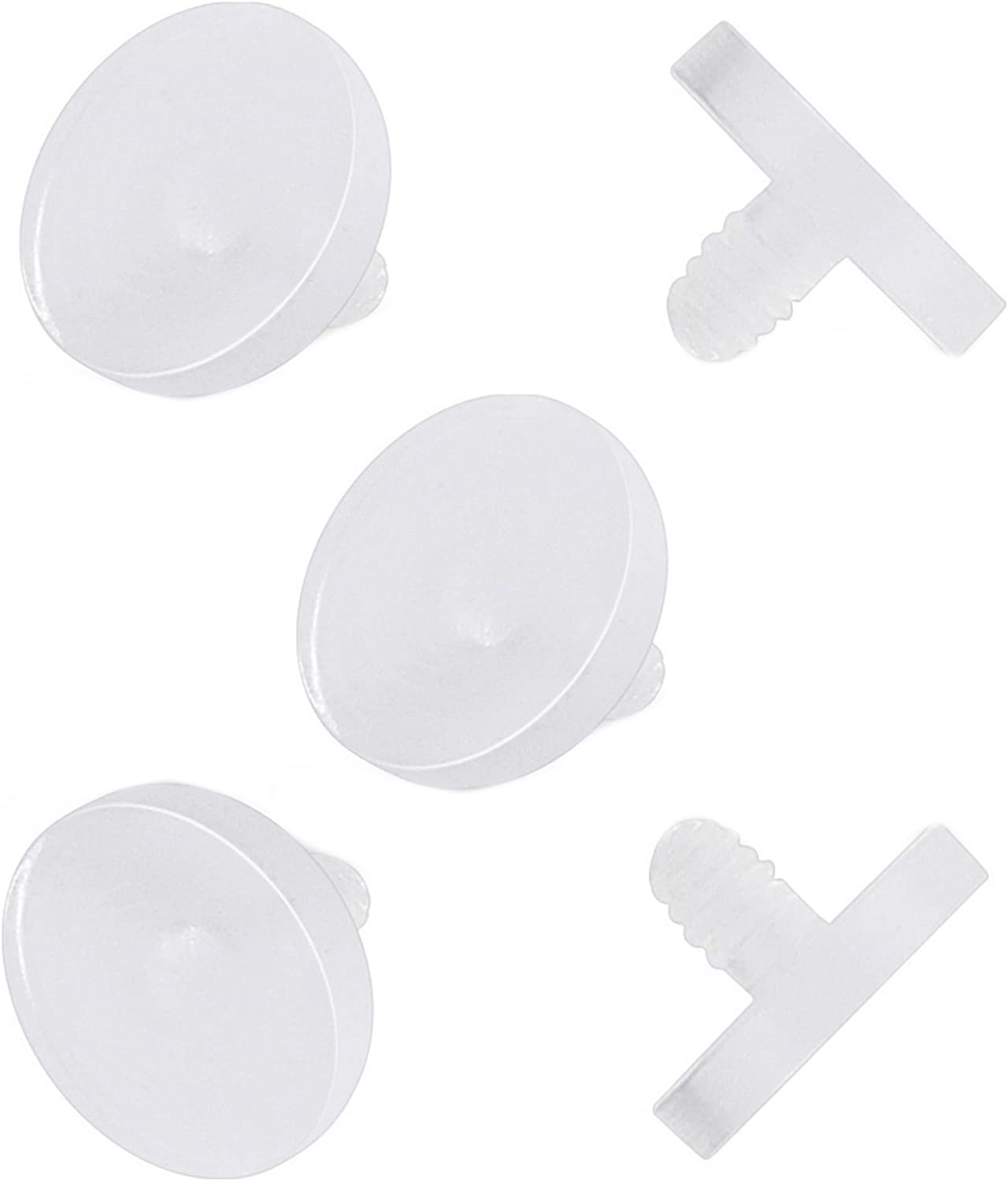 BYB Jewelry 5-Pack Clear Acrylic Dermal Top Retainers