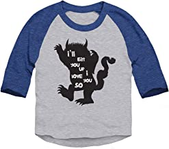 Trunk Candy Toddlers I'll Eat You Up I Love You So 3/4 Sleeve Raglan T-Shirt