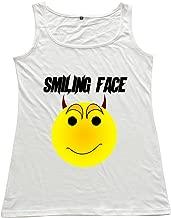 Smiling Face Woman 100% Cotton Tanks Top