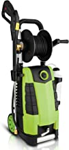 Highsell 3800PSI Electric Pressure Washer, MAX 2.8GPM Electric Power Washer 1800W High Pressure Washer with Hose Reel MR3800, Green