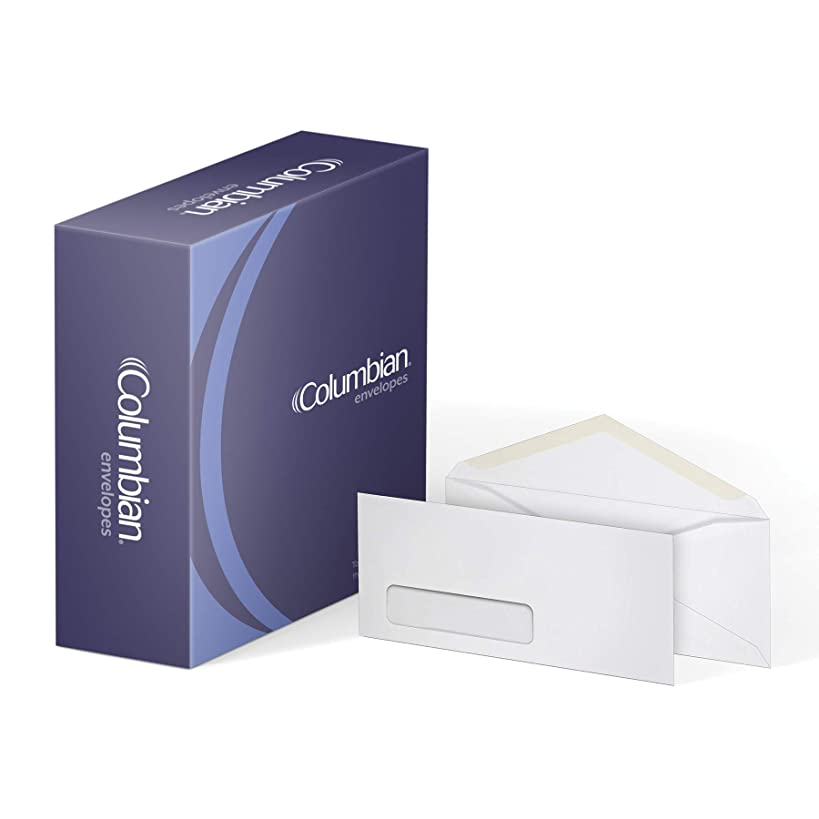 Columbian #10 Business Envelopes, Left Window, 4-1/8 x 9-1/2 Inch, 500 Per Box, White (CO170)