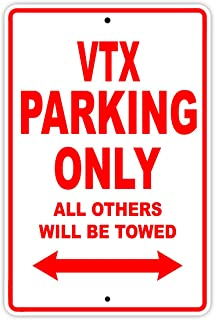 HONDA VTX Parking Only All Others Will Be Towed Motorcycle Bike Novelty Garage Aluminum 8