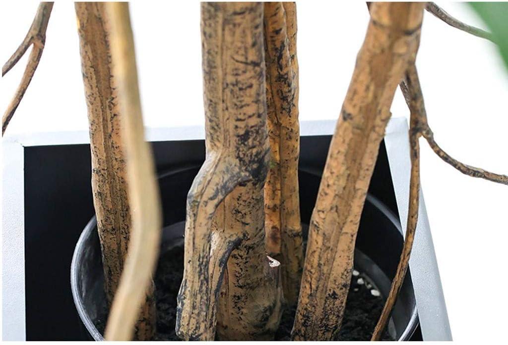 Yyqx Falsos n/órdica /árbol Ficus Lyrata Hoja Verde Ramas Ficus Lyrata Hoja del /árbol Bonsai El Verde Decorativo /Árbol Artificial tama/ño : 56cm