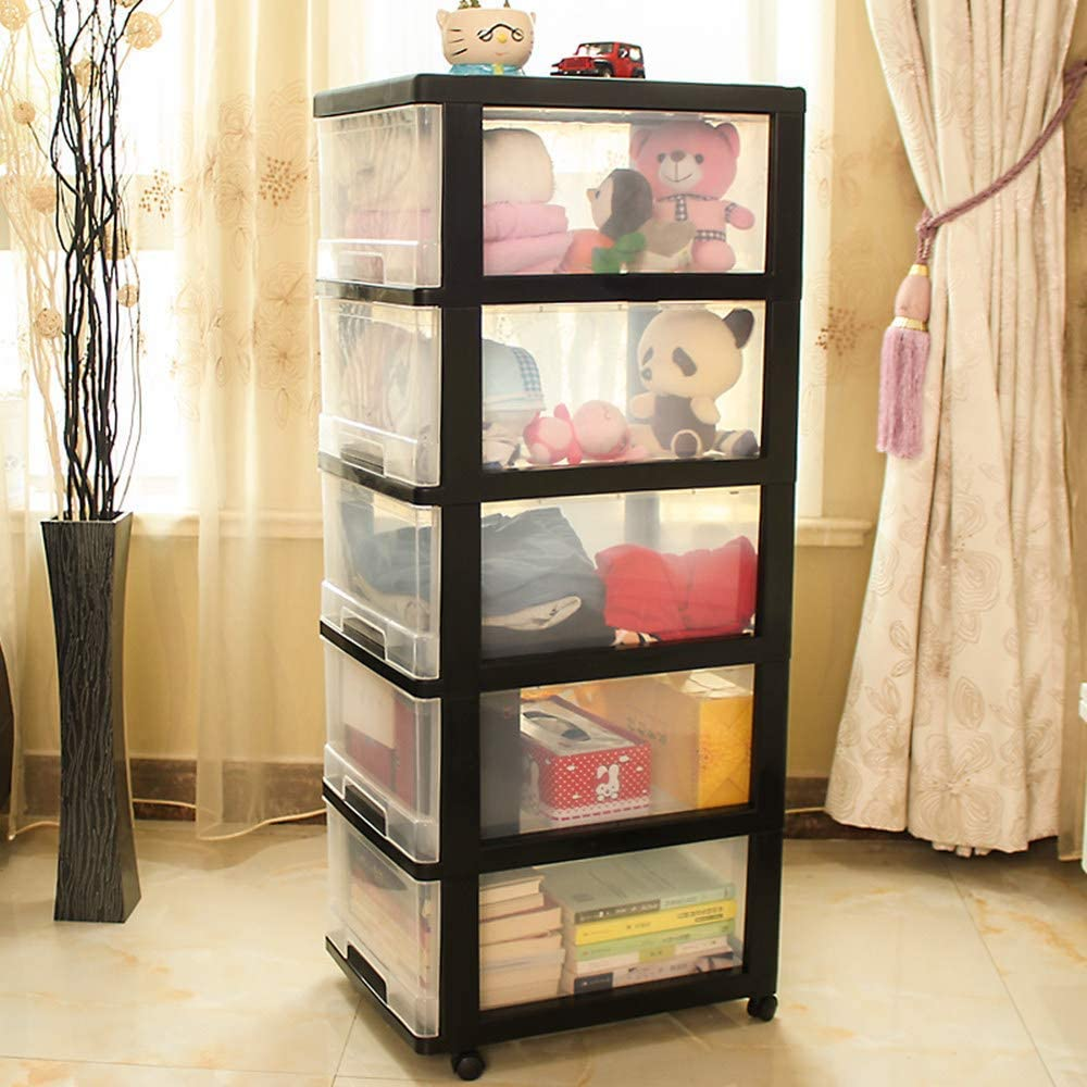 Shozafia Excellent 5-Drawer Rolling Storage Cart Clearance SALE! Limited time! Wheels on Craft