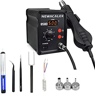 Hot Air Rework Station 500 ° C Soldering Station with Hot Air Gun Airflow Adjustable Desoldering Station for BGA IC Desoldering Tool