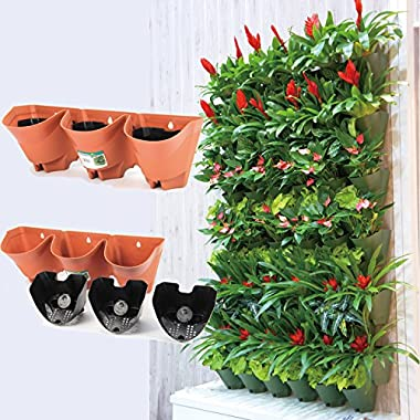 Worth Garden Self Watering Vertical 3 Pockets Planters in 3 sets package