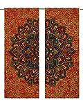Tapisserie-Türvorhänge, Boho-Medaillon, marokkanisch-indischer Mandala-Wandteppich, Türvorhang, Fenster-Dekoration, elegante Gardinen, fürs Zimmer im Wohnheim
