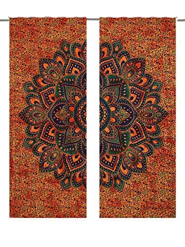 Tapisserie-Türvorhänge, Boho-Medaillon, marokkanisch-indischer Mandala-Wandteppich, Türvorhang, Fenster-Dekoration, elegante Vorhänge, fürs Zimmer im Wohnheim
