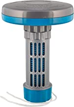 """U.S. Pool Supply Floating Spa, Hot Tub & Small Pool Chlorine and Bromine Chemical Dispenser - Holds 1"""" Tablets, 13 Flow Level Control Settings - Worry-Free Balanced Chemical Delivery Water Sanitizer"""