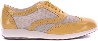 HOGAN Luxury Fashion Womens MCBI20547 Yellow Lace-Up Shoes | Season Outlet