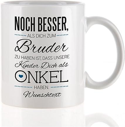 Preisvergleich für Herz & Heim® moderne Kaffeetasse als Kompliment für den besten Onkel mit Gratis Druck Ihres Wunschtextes unsere Kinder