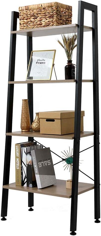 Industrial SALENEW very popular High material Ladder Bookshelf 4 Shelf Narrow Tier Vintage