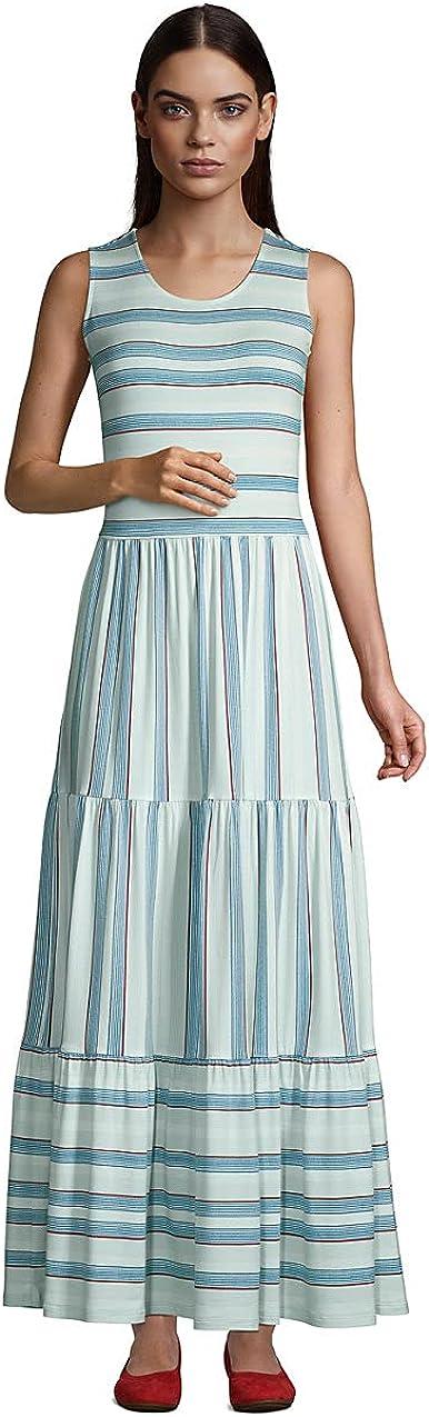Lands' End Women's Sleeveless Tiered Maxi Dress