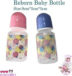 Dirance Newest Lifelike Reborn Newborn Baby Doll Accesories Baby Bottle Kids Toy (Pink)