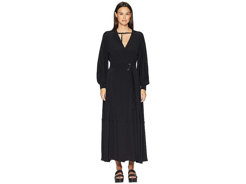 Sportmax Maesta 3/4 Sleeve Dress (Black) Women