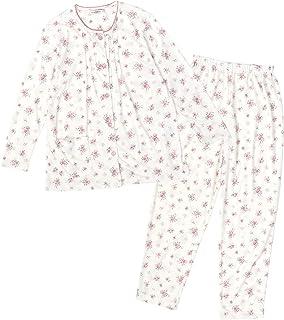 [フローラルコレクション] パジャマ レディース 上下 ルームウェア 前開き 長袖 小花柄 セット セットアップ
