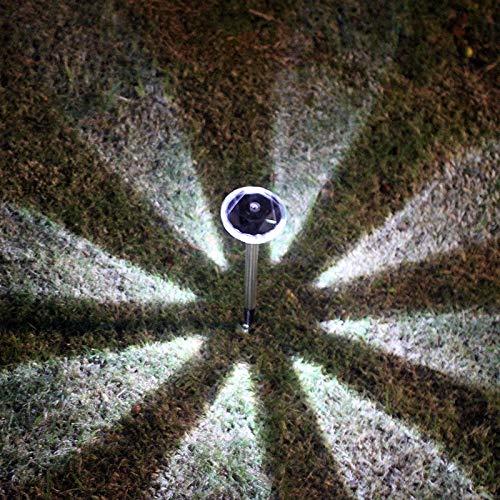 Lampada da terra a energia solare, a forma di diamante, lampada decorativa da giardino, 1 pezzo, colore: bianco