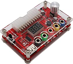 Varadyle ATX 24Pin Power Breakout Board with ADJ Adjustable Voltage Knob and Acrylic Shell Kit Voltage Regulator