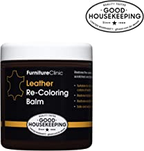 Furniture Clinic Leather Recoloring Balm – Renew, Restore & Repair Color to Faded and Scratched Leather | 21 Color Choices, Works on Couches, Car Seats, Clothing & Purses - 8.5 Fl. Oz (Medium Brown)