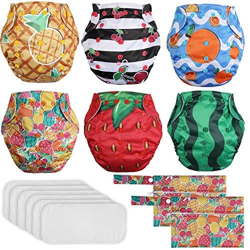 Lictin Washable Potty Training Pants - 6PCS Reusable Cloth Nappies...