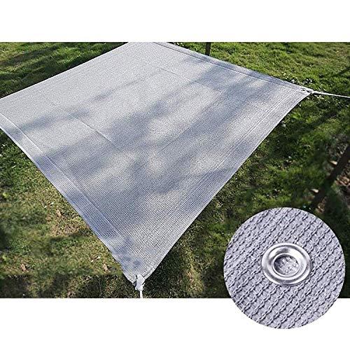 YLL Filet D'ombrage, Tissu D'ombrage Extérieur Pare-Brise Anti-UV Trou en Métal Durable avec Corde Libre Jardin/Balcon/Garde-Corps, 16 Tailles (Color : Gray),1x1m(3 * 3ft)